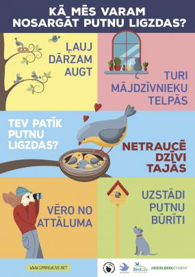Jāļauj putniem ligzdot mierā