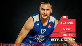 """""""Ventspils"""" un """"Ogres"""" basketbolisti cīnās par iespēju iegūt vadību LBL pusfināla sērijā"""