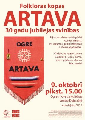 Folkloras kopas ARTAVA 30 gadu jubilejas svinības