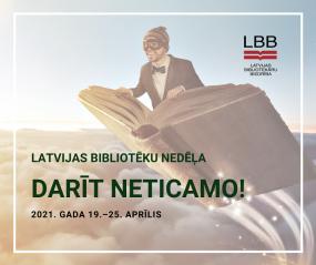 No 19. līdz 25.aprīlim notiks Bibliotēku nedēļa