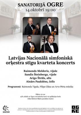 LNSO stīgu kvarteta koncerts sanatorijā OGRE