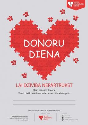 17. jūnijā- Donoru diena Ogrē